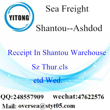 Shantou Port LCL Consolidation To Ashdod