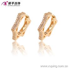 90942 New arrival popular jóias simplesmente elegante estrela em forma de brincos de argola brincos de ouro para senhoras