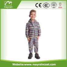 Kids 100% Polyester Waterproof Full Print Rainsuit