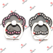 Flower Shape Black Color Smartphone Finger Ring Holder Wholesale (SPH132)
