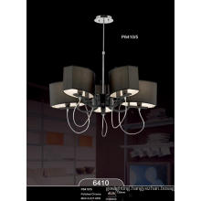 Black Fabric Shade Modern Luxury Pendant Light (P6410-5)