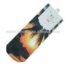 Láser de impresión de algodón hecho punto calcetines de moda para la venta al por mayor