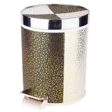 Stainless Steel Top Rim Foot Pedal Dust Bin