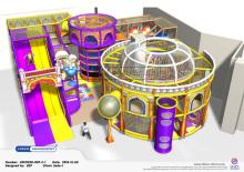 Замок развлечений развеселить тематические открытая площадка оборудование
