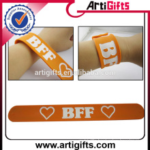 Artigifts Newest Promotional Cheap Custom Silicone Slap Bracelet