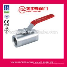 Válvulas de esfera de aço inoxidável 316 1PC forjado tipo ampla