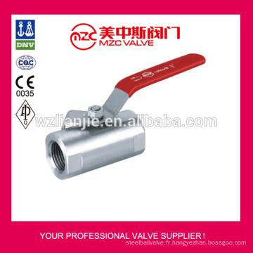 Robinets à boisseau sphérique en acier inoxydable 316 1PC forgé Type large
