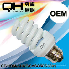 15W haute qualité complète spirale E27 ampoule CFL