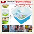 2017 new plastic injection rice fruit vegetable wash basket mould/drain basket mould