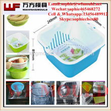 2017 new plastic injection rice fruit vegetable wash basket mould/drain basket mould