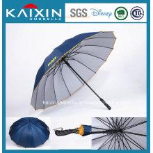 Модный дизайн с открытым прямым зонтом для гольфа