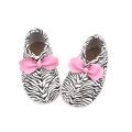 Zebra pattern 3D Bowknot  Moccasins Baby Shoes