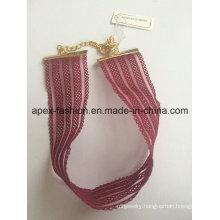 Fashion Red Fabric Choker with SGS Approved