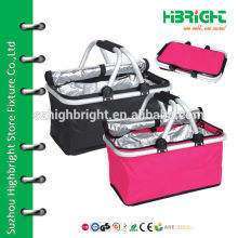 thermal foldable hand crate with lid