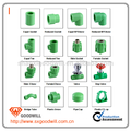 20MM- 63MM Green/White/Gray color PPR Pipe Fittings China Manufacture