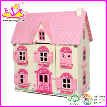 Wooden Doll House, avec 4 Set Furniture Toy (W08G058)