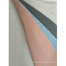 Tecido filigrana de costela com impressão digital