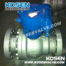 2 Pieces Cast Steel Trunnion Ball Valves