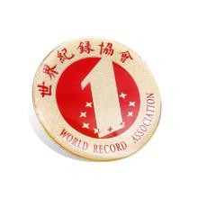 Colorido epoxi gotejamento de aço inoxidável impressão emblema (gzhy-ys-003)