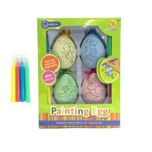 Coloring painting easter egg wrap pendant