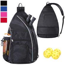 Unisex Pickleball Paddle, Tennis, Pickleball Racket and Travel Reversible Waterproof Crossbody Sling Backpack