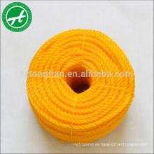 Cuerda de torsión PE de 3 hilos para cuerda de amarre de buques