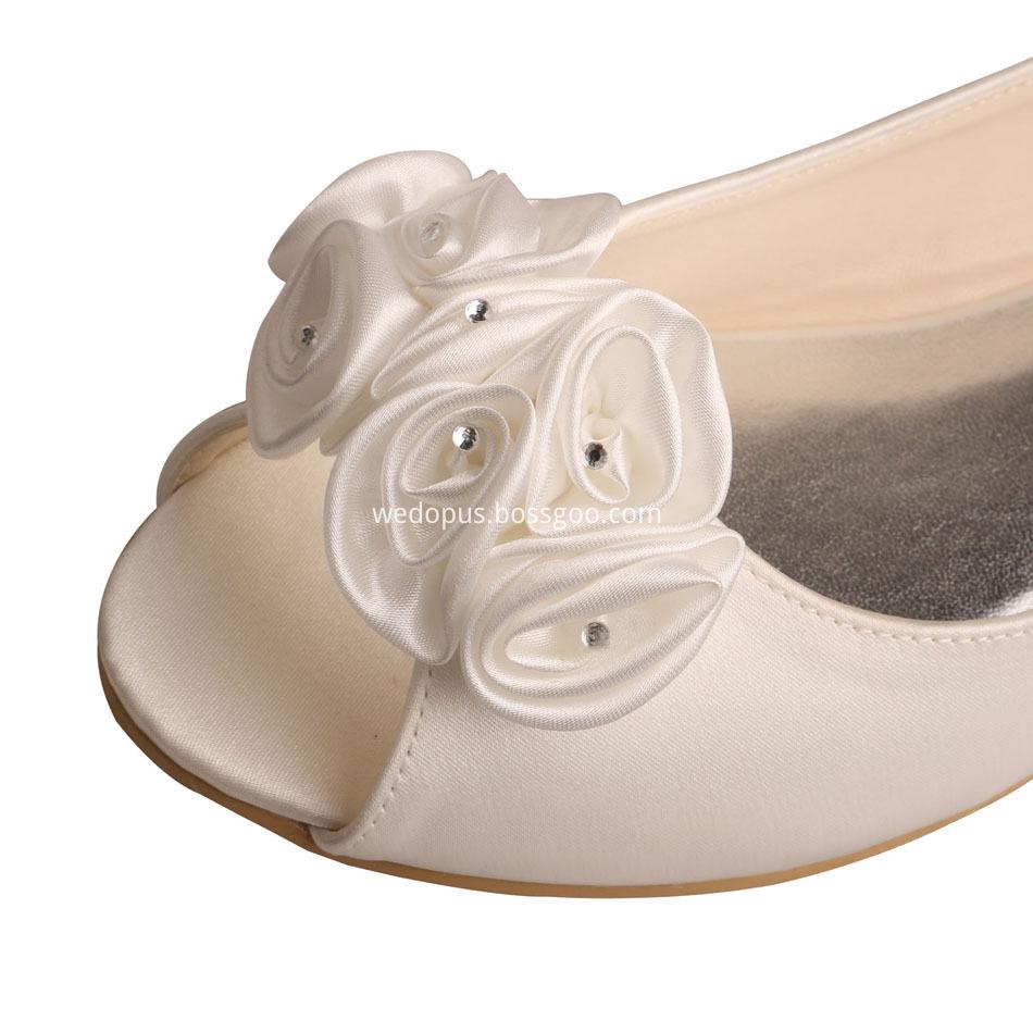 Flower Bridal Ballet Flats