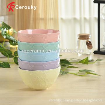 Ceramic noodle bowl rice serving bowl