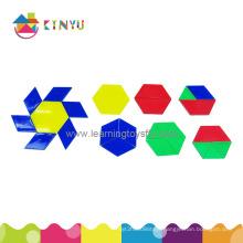 Educational Manipulative Toys Overhead Pattern Blocks/120