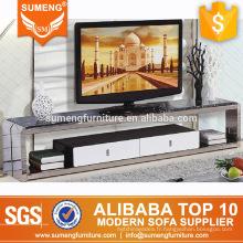 2016 design moderne pas cher faux marbre haut meuble TV avec tiroirs