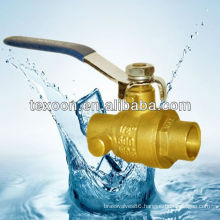 solder brass lead free ball valve with drain end CXC