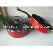 Набор посуды из нержавеющей стали с антипригарным покрытием из углеродистой стали