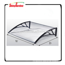 transparent plastic polycarbonate awning