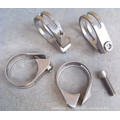 31.8mm Road MTB Tige de selle Clamp Titanium Alloy Bicycle Mountain Bike Pipe Clamps