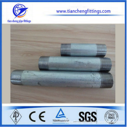 Carbon steel hot dipped galvanized pipe nipples