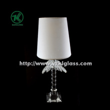 Single Glass Candle Holder for Table Ware with Lamp (11*9*28)