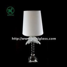 Porte-bougie en verre simple pour table avec lampe (11 * 9 * 28)