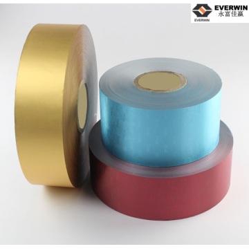 Tira de aluminio recubierta de color