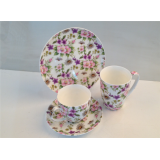 Alibaba Tao Hui porcelain floral coffee set