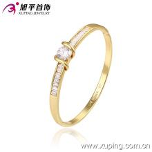 Nuevo Xuping moda 14k oro bastante sutil brazalete elegante con parpadeo Zircon