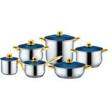 Conjunto de panelas de aço inoxidável com pote de leite