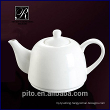 P&T porcelain factory high temperature porcelain coffee pot, ceramic tea pot for hotel