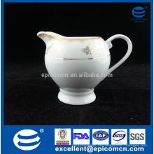Gold decal antik keramik creamer porzellan milchkrug