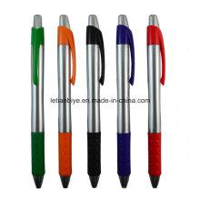 Logotipo modificado para requisitos particulares Haga clic en la pluma plástica del bolígrafo para hacer publicidad