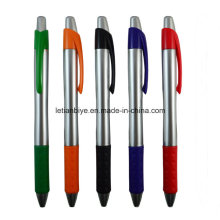 Stylo en plastique adapté aux besoins du client de stylo de clic de logo pour la publicité