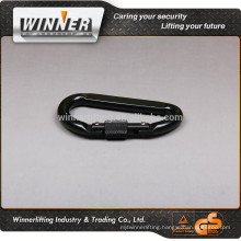 Shiny zinc coated Carabiner and metal carabiner keychain