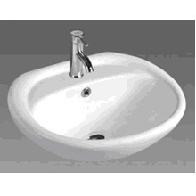 Bathroom Round Ceramic Cabinet Basin (D601)