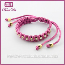 Alibaba new arrival three color diamond rope bracelet