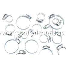 Vacuum squeeze large diameter band hose clamps