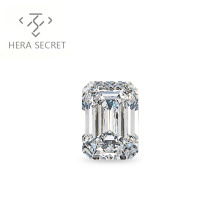 ForeverFlame G H 3ct 7mm*10mm Emerald Cut diamond CVD CZ Moissanite engagement ring